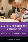 Sabat |  Alzheimer's Disease and Dementia: What Everyone Needs to Know(r) | Buch |  Sack Fachmedien
