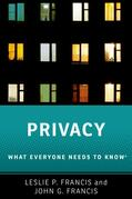 Francis / Francis |  Privacy: What Everyone Needs to Know(r) | Buch |  Sack Fachmedien