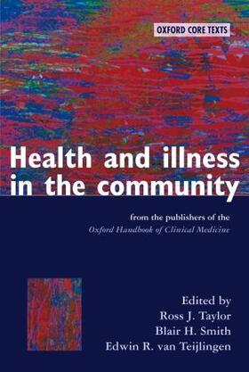 Taylor / Smith / van Teijlingen | Health and Illness in the Community | Buch | sack.de