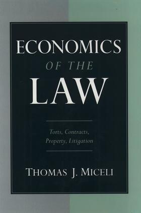 Miceli | Economics of the Law | Buch | sack.de