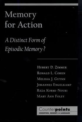 Zimmer / Cohen   Memory for Action   Buch   sack.de