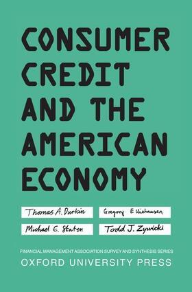 Durkin / Elliehausen / Staten | Consumer Credit and the American Economy | Buch | sack.de