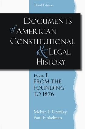 Urofsky / Finkelman | Documents of American Constitutional and Legal History | Buch | Sack Fachmedien