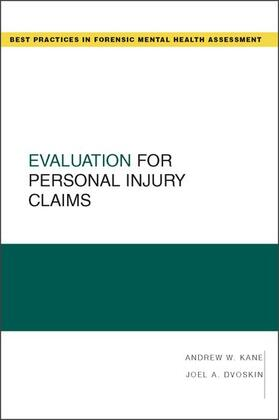 Kane / Dvoskin   Evaluation for Personal Injury Claims   Buch   sack.de