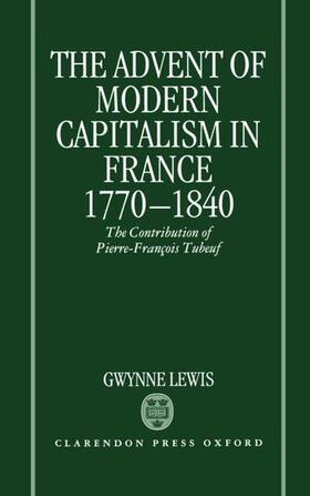 Lewis | The Advent of Modern Capitalism in France 1770-1840 | Buch | sack.de