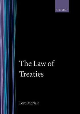 McNair | The Law of Treaties | Buch | sack.de