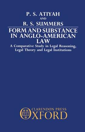 Atiyah / Summers | Form and Substance in Anglo-American Law | Buch | sack.de