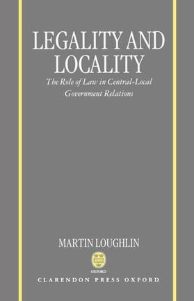 Loughlin | Legality and Locality | Buch | sack.de