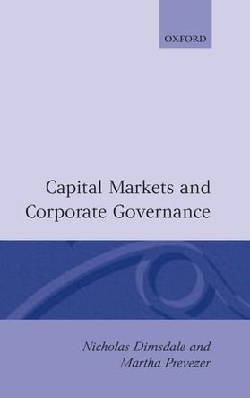 Dimsdale / Prevezer | Capital Markets and Corporate Governance | Buch | sack.de