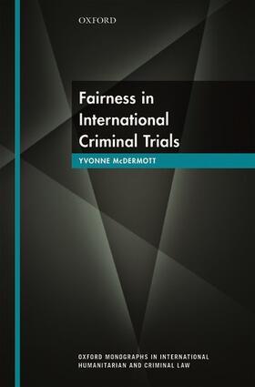 McDermott | Fairness in International Criminal Trials | Buch | sack.de