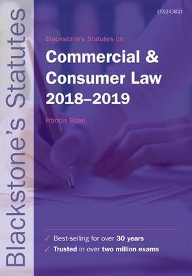 Rose | Blackstone's Statutes on Commercial & Consumer Law 2018-2019 | Buch | sack.de