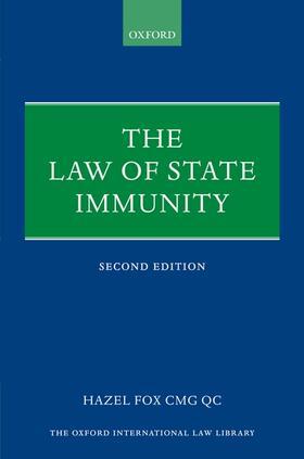 Fox QC   The Law of State Immunity   Buch   sack.de