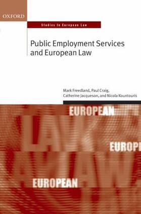 Freedland FBA / Jacqueson / Kountouris | Public Employment Services and European Law | Buch | sack.de