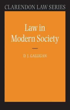 Galligan | Law in Modern Society | Buch | sack.de