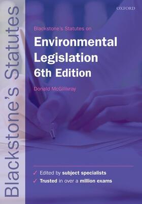 McGillivray   Blackstone's Environmental Legislation   Buch   sack.de