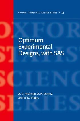 Atkinson / Donev / Tobias | Optimum Experimental Designs, with SAS | Buch | sack.de