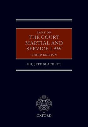 Blackett | Rant on the Court Martial and Service Law | Buch | sack.de