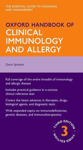 Spickett | Oxford Handbook of Clinical Immunology and Allergy | Buch | sack.de