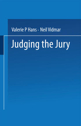 Hans / Vidmar | Judging the Jury | Buch | sack.de