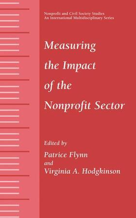 Hodgkinson / Flynn   Measuring the Impact of the Nonprofit Sector   Buch   sack.de