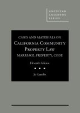 Cases and Materials on California Community Property Law | Buch | sack.de