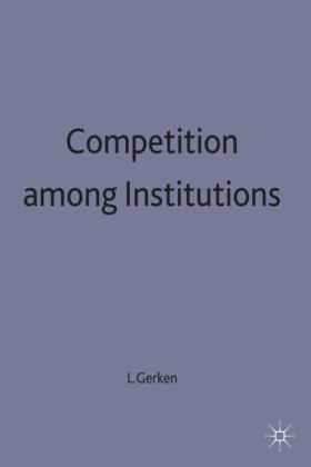 Gerken | Competition among Institutions | Buch | sack.de