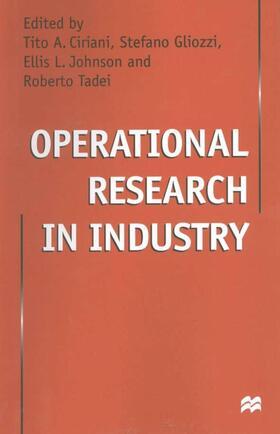 Ciriani / Gliozzi / Johnson | Operational Research in Industry | Buch | sack.de