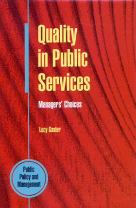 Gaster   Quality in Public Services: Managers' Choices.   Buch   sack.de
