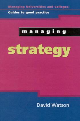 Watson   Managing Strategy   Buch   sack.de