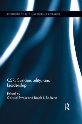 Eweje / Bathurst   CSR, Sustainability, and Leadership   Buch   sack.de