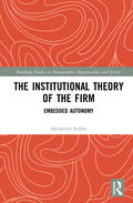 Styhre    The Institutional Theory of the Firm   Buch    Sack Fachmedien