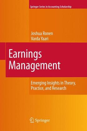 Ronen / Yaari | Earnings Management | Buch | sack.de