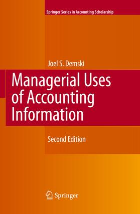 Demski   Managerial Uses of Accounting Information   Buch   sack.de