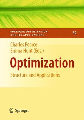 Pearce / Hunt   Optimization   Buch   sack.de