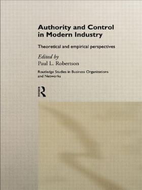 Robertson | Authority and Control in Modern Industry | Buch | sack.de