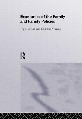 Jonung / Persson   Economics of the Family and Family Policies   Buch   sack.de