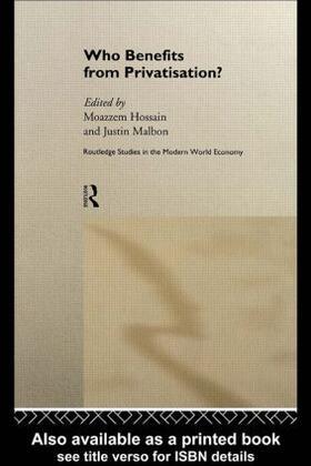 Hossain / Malbon   Who Benefits from Privatisation?   Buch   sack.de