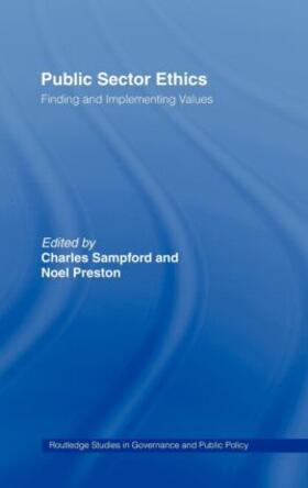 Preston / Sampford | Public Sector Ethics | Buch | sack.de
