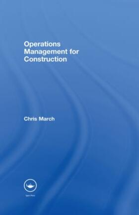 March | Operations Management for Construction | Buch | sack.de