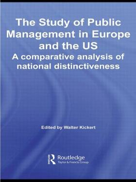 Kickert | The Study of Public Management in Europe and the US | Buch | sack.de