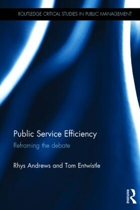 Andrews / Entwistle   Public Service Efficiency   Buch   sack.de