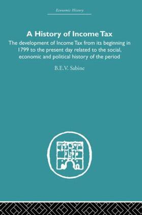 Sabine | History of Income Tax | Buch | sack.de