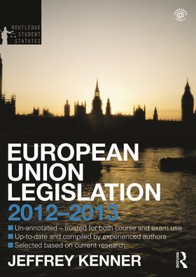 Kenner   European Union Legislation   Buch   sack.de