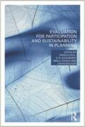 Hull / Alexander / Khakee    Evaluation for Participation and Sustainability  in Planning   Buch    Sack Fachmedien