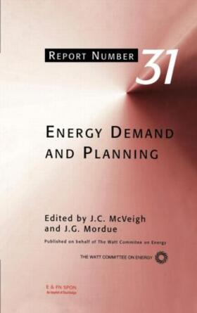 McVeigh / Mordue | Energy Demand and Planning | Buch | sack.de