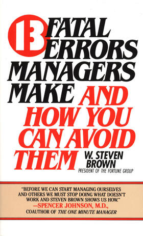 13 fatal errors managers make and how you can avoid them   Buch   sack.de