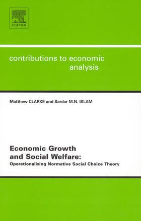 Islam / Clarke   Economic Growth and Social Welfare   Buch   sack.de