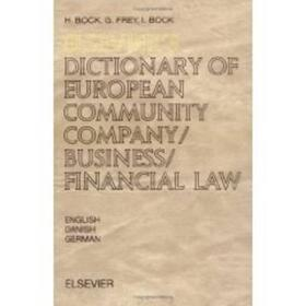 Elsevier's Dictionary of European Community Company/Business/Financial Law | Buch | sack.de