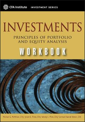 Mcmillian / Pinto / Pirie   Investments Workbook (CFA)   Buch   sack.de