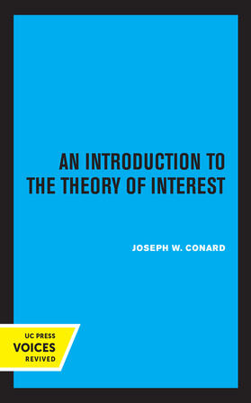 Conard | Introduction to the Theory of Interest | Buch | sack.de